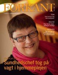 Forkant nr.1 2010 - Dansk Sygeplejeråd