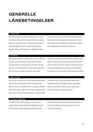 GENERELLE LÅNEBETINGELSER - Organisationen Danske Museer