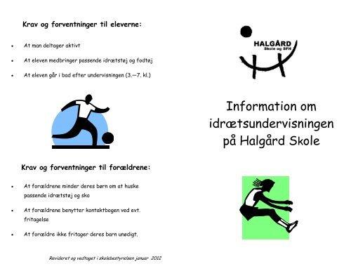Folder om Idræt - Skoleporten Halgård Skole