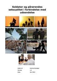 Soldater og pårørendes seksualitet i forbindelse med ... - Krigeren