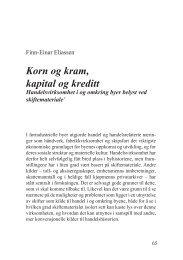 Korn og kram, kapital og kreditt - Lokalhistorie.no