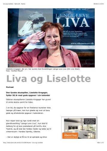 Liva og Liselotte - fyens.dk - Navne - Liselotte Krogager