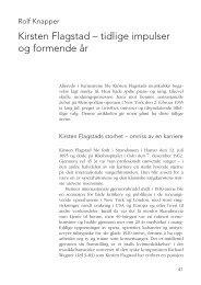tidlige impulser og formende år - Kirsten Flagstad 2013