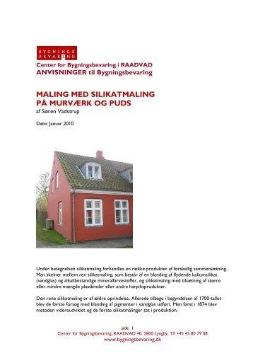 maling med silikatmaling på murværk og puds - Center for ...
