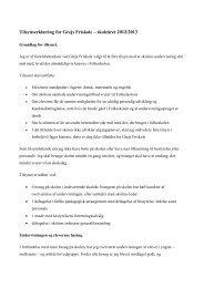 Tilsynsrapport for skoleåret 2012/2013 - Grejs Friskole