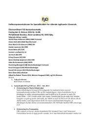 Ekstra ordinært bestyrelsesmøde FJD d. 8 februar 2013