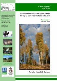 Faun rapport 018-2011 - Gjerstad Viltlag