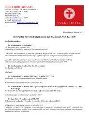 Referat af provstiudvalgsmødet den 31. januar ... - Hillerød Provsti