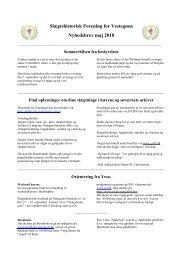 Nyhedsbrev maj 2010 - Slægtshistorisk Forening for Vestegnen
