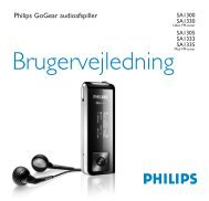 SA13 series Danish user manual - Philips