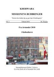 Fra årsmødet 2010 i København - Dansk Kherwara Mission