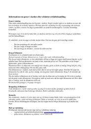 Information om gener i skeden efter afsluttet strålebehandling