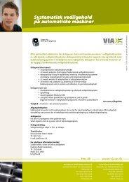 Systematisk vedligehold på automatiske maskiner - Fredericia ...