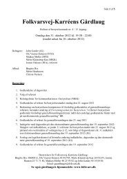 Referat 31. oktober 2012 - Folkvarsvej-Karréens Gårdlaug