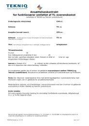 Ansættelseskontrakt - Teknisk Landsforbund
