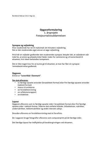 Opgaveformulering - Danmarks Medie- og Journalisthøjskole