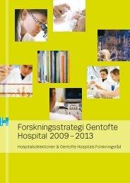 Forskningsstrategi Gentofte Hospital 2009 – 2013