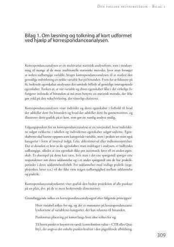 Bilag 1 – om læsning og tolkning af korrespondanceanalysekort