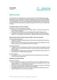 Faktaark - Modernisering