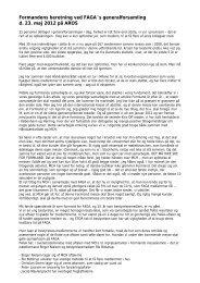 Læs formandens beretning - FAGA