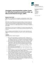 Samarbejdsaftale mellem COK og Økonomidirektørforeningen