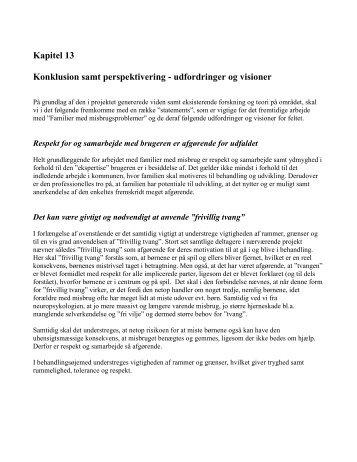Kapitel 13 Konklusion samt perspektivering ... - Helle Lindgaard