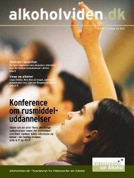 Konference om rusmiddel- uddannelser - Servicestyrelsen