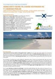 eksklusivt cruise til dansk vestindien og 9 caribiske ... - Exotic Travel