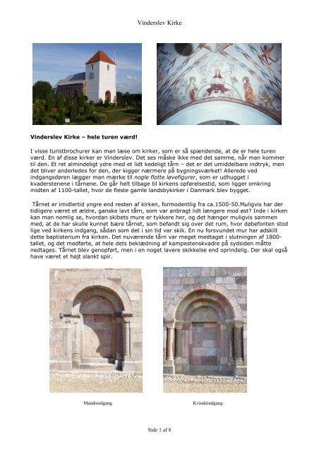 Vinderslev Kirke historie