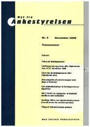 Nyt fra Ankestyrelsen nr. 5 - December 2000
