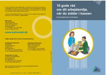 10 gode råd om dit arbejdsmiljø, når du sidder i kassen - BAR Handel