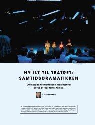 ny ilt til teatret: samtidsdramatikken - Norske Dramatikeres Forbund
