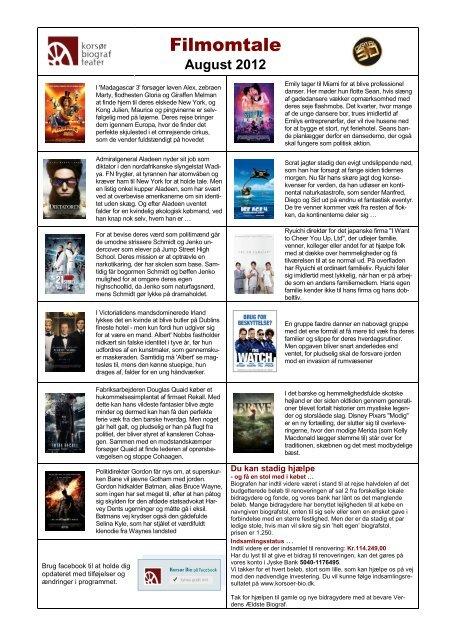 Filmprogram 5 - Korsør Bio
