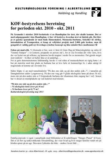 KØF-bestyrelsens beretning for perioden okt. 2010 - okt. 2011