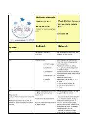 referat Skolebestyrelsesmøde 17 januar 2011 - Gylling Skole