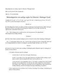 regler for fiskeriet i Mariager Fjord - Hobro Både og Fiskerihavn