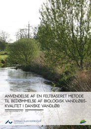 Anvendelse af en feltbaseret metode til bedømmelse af biologisk ...