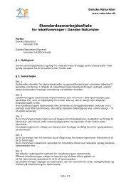 Standardsamarbejdsaftale - Danske Naturister
