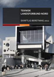 Skriftlig beretning - Teknisk Landsforbund