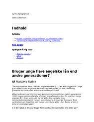 Bruger unge flere engelske lån end andre generationer - Dansk ...