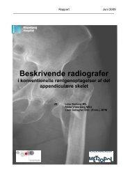 Beskrivende radiografer i konventionelle røntgenoptagelser af det ...