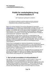 Politik for medarbejderes brug af virksomhedens IT - Legal Risk ...