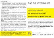 RÅD OG UDVALG 2009 - Rum - Arkitektskolen Aarhus