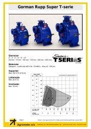 Gorman Rupp Super-T datablad (pdf) - Agrometer a/s