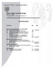 Referat - Miljø- og Teknikudvalget - Ringsted Kommune