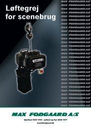 Se vores katalog Løftegrej for scenebrug - Max Fodgaard A/S