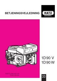 1D90 V 1D 90 W - HATZ Diesel
