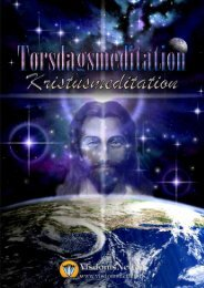 TORSDAGSMEDITATION - KRISTUSMEDITATION - Visdomsnettet