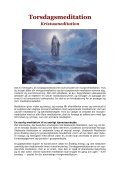 TORSDAGSMEDITATION - KRISTUSMEDITATION - Visdomsnettet - Page 3