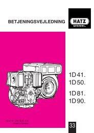 1D41. 1D50. 1D81. 1D90. - HATZ Diesel